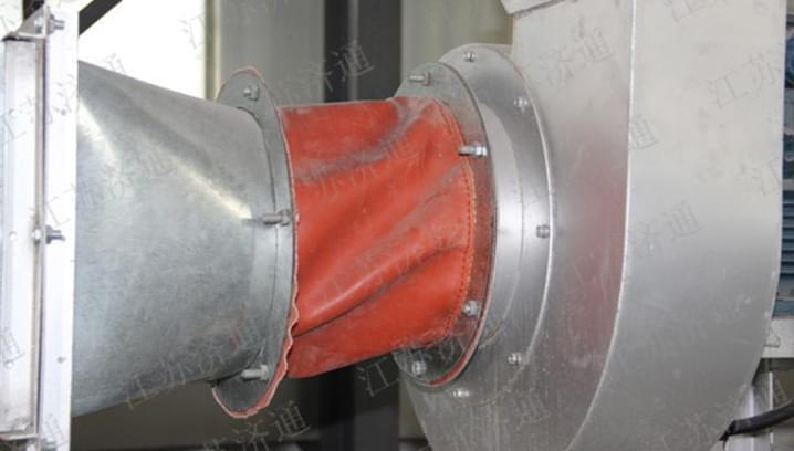 烘干设备热风排风管应用软连接案例