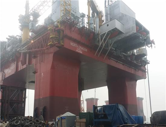 中石油烟台来福士船厂石油钻井平台法兰保温案例